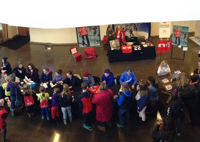 Signing at Hayley Wickenheiser Tournament